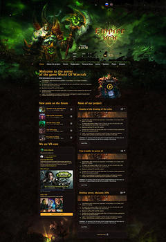 WoW Empire Game Website Template