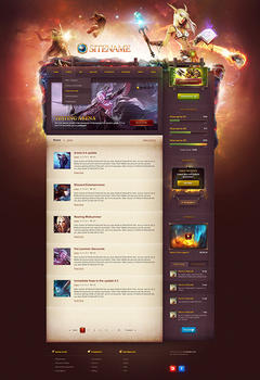 WoW Game Portal Game Website Template