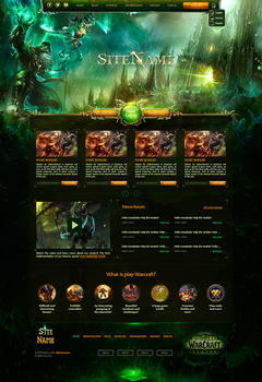 WoW Guldan Legion Game Website Template