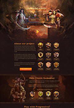 WoW Landing Page Game Website Template